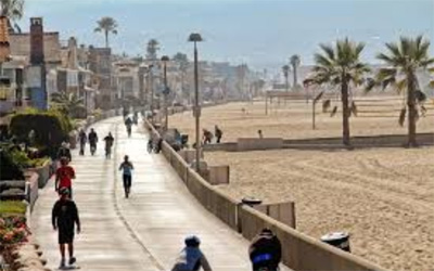 The Strand in Hermosa Beach, CA